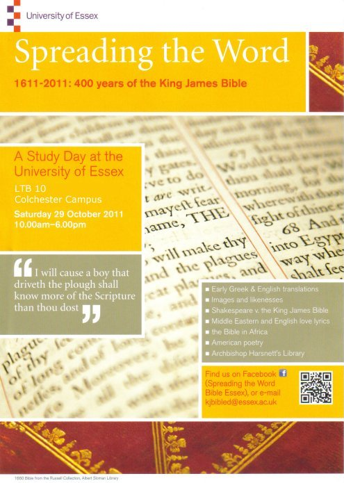 Poster for Spreading The Word: 1611-2011: 400 years of the King James Bible